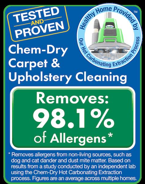 chem dry removes 98% of allergens